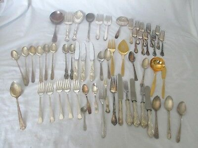 Lot - Silverplate Flatware 58 Various Pieces
