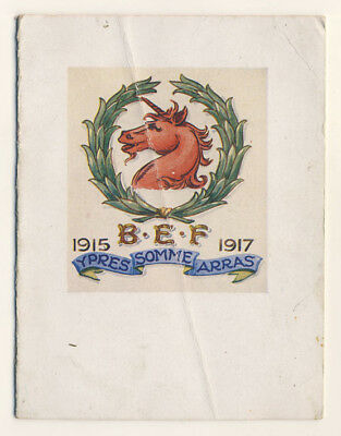 Great War Christmas Card: Northumbrian Division, BEF, 1917