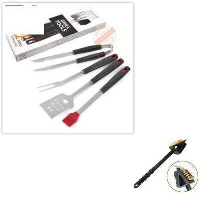 Grilling Tools 4 pecs BBQ Barbecue Tool Set Grill Accessory Stainless Steel Kit