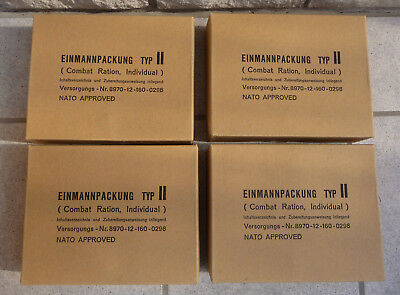 MRE Meal Ready to Eat EPA German Military Complete Ration Box Lot of 4