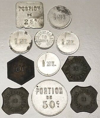Germany Military PX WWII & France Beer, Wine, +more World Trade Token Lot of 11