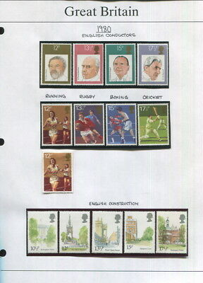 Great Britain On Album Pages 1980 To 1989-Many Mnh Items In Mounts!