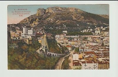 Monaco Stamps Picture Postcard 1935 Palace Rare Postal History Collection