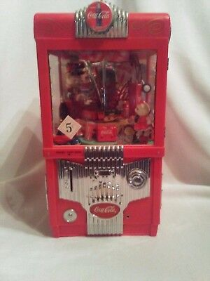 1997 Coca Cola Grabbin' claw game musical bank Enesco works with box