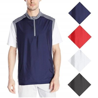 NEW Men's Adidas 2018 Quarter Zip Stretch Wind Golf Vest - Choose Size & Color!