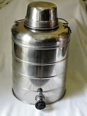 VINTAGE STANLEY STAINLESS STEEL WATER JUG COOLER Military Thermos Coffee