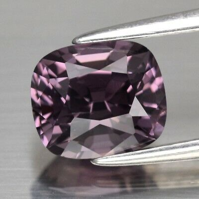 VS 1.95ct 7.6x6.5mm Cushion Natural Purple Spinel, M'GOK