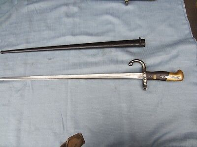 Model 1874 French EPEE Bayonet with Scabbard