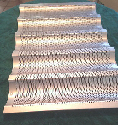 5 Lot New 18x26 Chicago 5 Mould Baguette French Bread Baking Tray Pan Heavy Duty