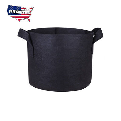 [Black] 7 Gallons-Great-Pot Grow Bags - Fabric/Air Prune Heavy Duty-with Handles