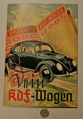 Vokswagon 1939 Brochure Catalog Vw Original Beetle Wwii Ww2 German Germany