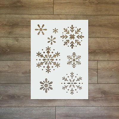 Snowflake - Christmas / Winter Reusable Plastic Stencil