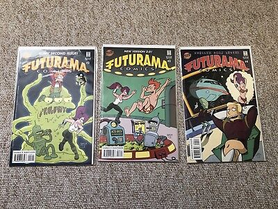Futurama Comics (2000) Bongo #2 #3 #4 First Editions.