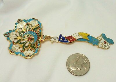 Rare, Unusual St. Louis Fair 1904 Spoon/Server Enameled Gold