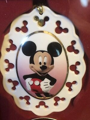 Lenox Disney Mickey Mouse Cameo Ornament NIB