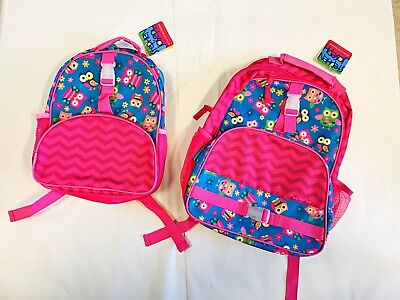 Stephen Joseph All Over Print Backpack Set Owls Big And Mini Sizes Sisters