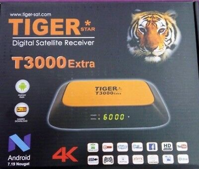 TIGER T3000 EXTRA 4K Satellite Receiver Android +