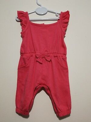 BNWOT Baby Girls Newborn First Size Pink Summer Holiday Romper Suit