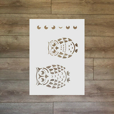Owls Reusable Plastic Stencil