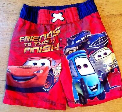 Disney Cars-Baby Boys-Size 12 Months-Lightning McQueen-Swimsuit-Red Bathing Suit