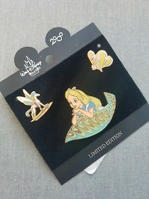 Alice In Wonderland Disney Pin Trading Set LE10000 Bread And Butterfly