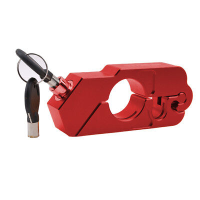 Red Motorcycle Handlebar Grip Brake Lever Lock Anit Theft Security Caps-Lock S