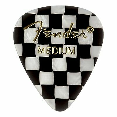 Fender 351 Shape Premium Picks, Checker Celluloid Medium 12-Pack