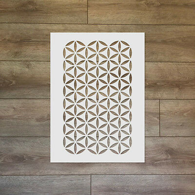 The Flower of Life Continuous Pattern - Sacred Geometry Reusable Plastic Stencil