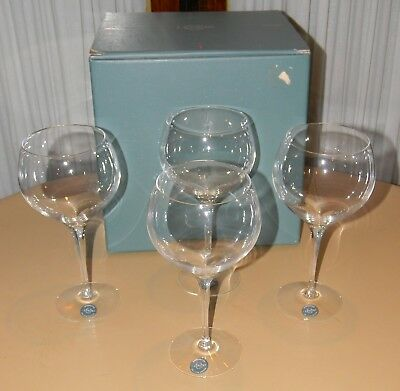 LENOX TUSCANY CRYSTAL BALLOON WINE GLASSES GLASS SET OF 4 NEW IN BOX Vintage
