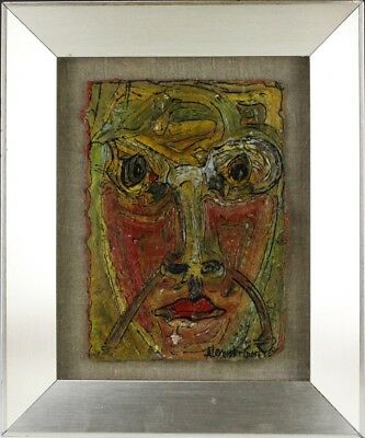 Alexander Gore Russian Abstract Expressionist Portrait Face Oil Painting LISTED