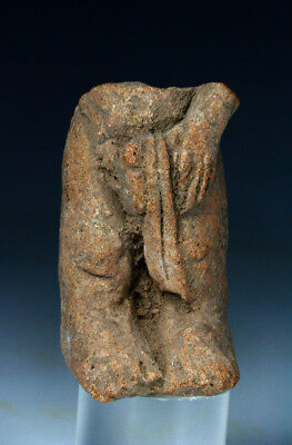 *SC*MAJAHAPIT CLAY FRAGMENT OF A MALE - ANCIENT JAVANESE, 11th-13th cent AD!