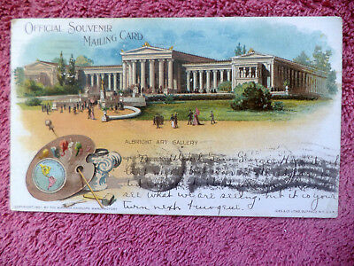 1904 EXPOSITION, Marquette PRIVATE MAILING CARD, Posted