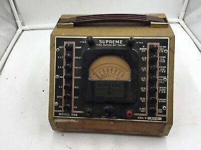 Vintage Rare Supreme Instruments Corp Radio PUSH BUTTON SET TESTER Model 592