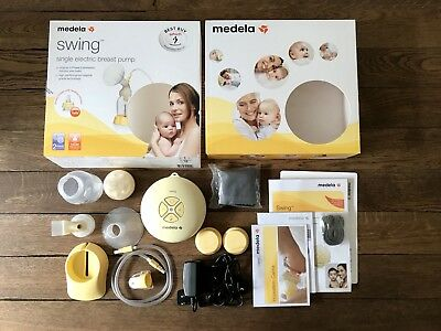 Medela Swing Single Electric Breast Pump -Never Used - All Parts + Original Box