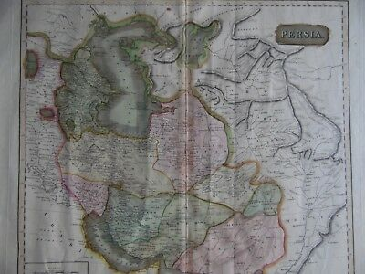 1815 Etching Large Original Map of Persia (Iran Iraq), Thomson's New Atlas.