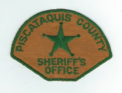VINTAGE PISCATAQUIS COUNTY, MAINE SHERIFF'S DEPT.(CHEESE CLOTH BACK) patch