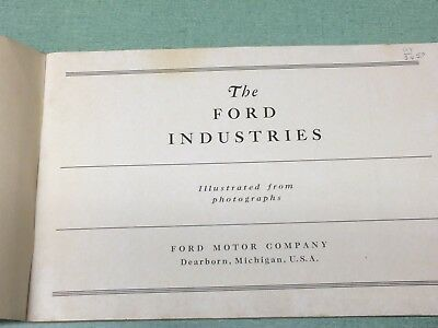 1931 Ford Industries Book