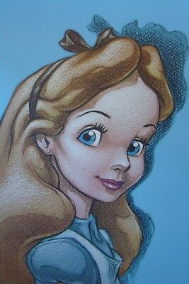 "ALICE IN WONDERLAND CANVAS PRINT 16"" x 24"" - JUST LOOK AT THOSE EYES - STUNNING!"