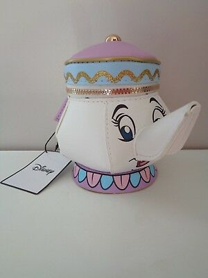 Mrs Potts Beauty And The Beast Disney Primark Teapot Purse BNWTS