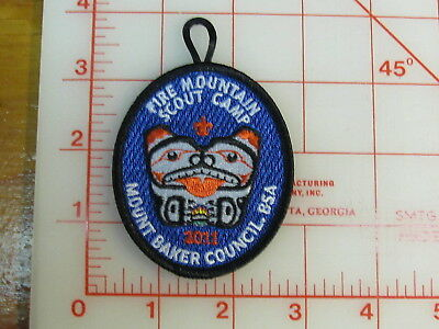 Fire Mountain Scout Camp 2011 Mount Baker Council collectible patch (gV)