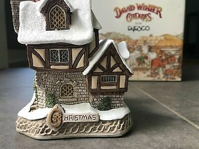 DAVID WINTER -  MR. FANG THE MAGISTRATE'S HOUSE OLIVER TWIST CHRISTMAS rare!