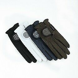 "Stan Schmidt riding Glove ""a touch of magic tack"" black"