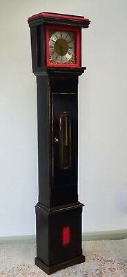 Vintage Grandfather Clock Gothic Ebonised Antique - We Can Deliver