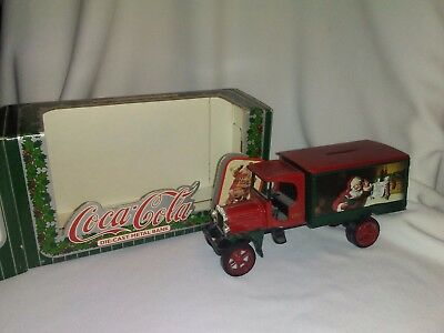 Ertl Coca Cola Santa Delivery Truck Die Cast Metal Bank 1993 with box