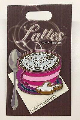 Disney Pin Lattes With Character Cheshire Cat Alice In Wonderland Latte Pin Rare
