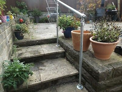 Free Standing Safety Rail Variable Garden Handrail Mobility Outdoor Kit 33.7mm