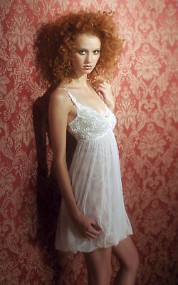Claire Pettibone Chemise Bridal Ivory Couture MOLLY Embroidered Lace XS NeW $170
