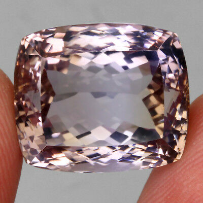 Clean 27.08ct. 18x15mm Antique 100%natural Top Bi Colors Purple Yellow Ametrine