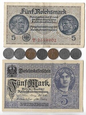 Rare Old wwi German wwii Germany War Civil Note Coin ww2 Relic Collection Lot