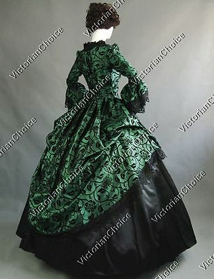 Victorian Steampunk Witch Fairytale Gown Fancy Dress Halloween Costume N 143 S